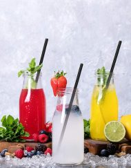 Black Solid Paper Eco Straws - Normal length 200mm/6mm - 250 straws pack