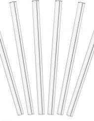 Glass 6mm Normal Clear - Glass Borosilicate Bulk Eco Straws - 180mm x 6mm